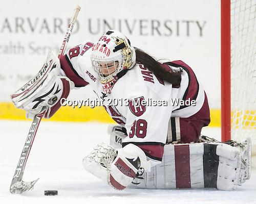 Emerance Maschmeyer (Harvard - 38) - The Harvard University Crimson defeated the visiting Boston University Terriers 3-1 on Friday, November 22, 2013, at Bright-Landry Hockey Center in Cambridge, Massachusetts.