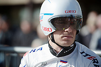Alexander Kristoff (NOR/Katusha) waiting for his TT<br /> <br /> 3 Days of De Panne 2015<br /> stage 3b: De Panne-De Panne TT