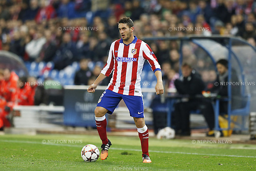 Koke (Atletico), NOVEMBER 26, 2014 - Football / Soccer : UEFA Champions League Group A match between Club Atletico de Madrid 4-0 Olympiacos FC at the Vicente Calderon Stadium in Madrid, Spain. (Photo by Mutsu Kawamori/AFLO) [3604]