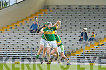 Padraig Boyle Kerry and Shane Kavanagh Carlow in action during their Allianz Hurling league clash in Fitzgerald Stadium on Sunday