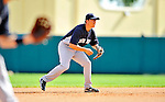 8 March 2011: New York Yankees' infielder Doug Bernier in action during a Spring Training game against the Atlanta Braves at Champion Park in Orlando, Florida. The Yankees edged out the Braves 5-4 in Grapefruit League action. Mandatory Credit: Ed Wolfstein Photo