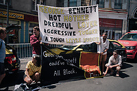 some George Bennett (NZL/LottoNL-Jumbo) fans at the teambus at the start this morning. Unfortunatly Bennet had to call it quits during the stage itself due to illness<br /> <br /> 104th Tour de France 2017<br /> Stage 16 - Le Puy-en-Velay › Romans-sur-Isère (165km)