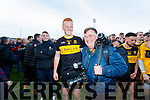 Johnny Buckley Dr Crokes players celebrates with his father in law Don McMonagle  after winning the Kerry County Senior Club Football Championship Final match between Dr Crokes and Dingle at Austin Stack Park in Tralee, Kerry on Sunday.