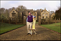 Bmth News (01202 558833)<br /> Pic: PhilYeomans/BNPS<br /> <br /> Furniture designer John Makepeace lived in the house before the Austrian tycoon.<br /> <br /> An historic stately home that burned to the ground in a devastating arson attack has been put up for sale for &pound;3m - &pound;12m less than what it was worth.<br /> <br /> Grade I listed Parnham House, near Beaminster, Dorset, is now just a charred shell of the magnificent mansion it once was.<br /> <br /> It was destroyed in the huge blaze in April last year and its millionaire owner, hedge fund manager Michael Treichl, was arrested on suspicion of starting the fire.<br /> <br /> But while on police bail, Mr Treichl, 69, was found drowned in Lake Geneva, Switzerland, in an apparent suicide.<br /> <br /> Despite initial vows by the family that they would rebuild the 500-year-old home, receivers have been brought in by the mortgage lenders to sell what remains of the property.