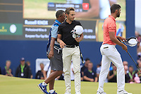 Joakim Lagergren (SWE) and Matthieu Pavon (FRA) finish on the 18th green during Sunday's Final Round of the 2018 Dubai Duty Free Irish Open, held at Ballyliffin Golf Club, Ireland. 8th July 2018.<br /> Picture: Eoin Clarke   Golffile<br /> <br /> <br /> All photos usage must carry mandatory copyright credit (&copy; Golffile   Eoin Clarke)