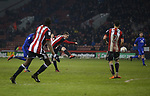 John Fleck of Sheffield Utd shoots during the Championship match at Bramall Lane Stadium, Sheffield. Picture date 02nd April, 2018. Picture credit should read: Simon Bellis/Sportimage