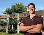 Valedictorian Jereme Gray at Spring Woods High  School Thursday May 17,2007.(Dave Rossman/For the Chronicle)