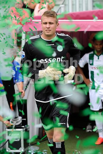 GRONINGEN - Voetbal, FC Groningen - Aston Villa, voorbereiding seizoen 2014-2015, 02-08-2014,  FC Groningen doelman Segio Padt