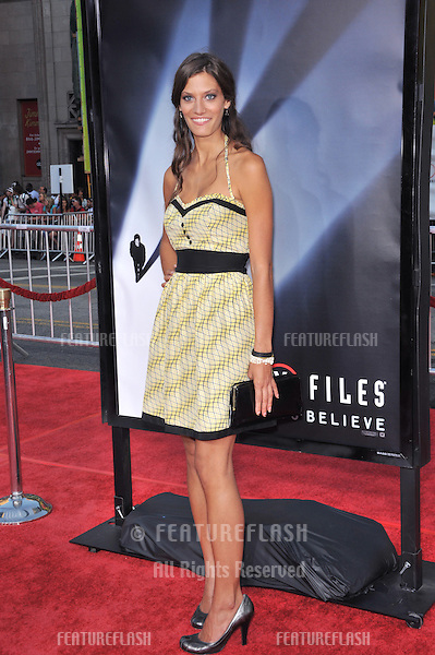 "Michelle Lombardo at the world premiere of ""The X-Files: I Want To Believe"" at Grauman's Chinese Theatre, Hollywood..July 23, 2008  Los Angeles, CA.Picture: Paul Smith / Featureflash"