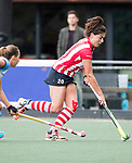 AMSTELVEEN -Sanne Pheninckx (HDM). Hoofdklasse competitie dames, Hurley-HDM (2-0) . FOTO KOEN SUYK