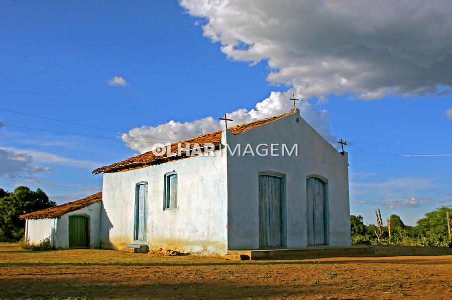 Igreja no Quilombo Mangal e Barro Vermelho, municipio Sitio do Mato. Bahia. 2015. Foto de Lineu Kohatsu.