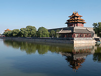 Eckturm des Kaiserpalast, Peking, China, Asien, UNESCO-Weltkuturerbe<br /> Watch-tower of Imperial Palace, Beijing, China, Asia, world heritage