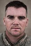 PFC Gavin Denny. Eugene, Oregon. 21. Charlie Co. 1st Battalion 12th Infantry Regiment, 4th Infantry Division. Photographed at Combat Outpost JFM in Zhari District, Kandahar, Afghanistan.