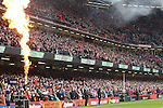 The atmosphere builds in a packed Millennium Stadium before kick off.<br /> RBS 6 Nations<br /> Wales v Ireland<br /> Millennium Stadium<br /> 14.03.15<br /> &copy;Steve Pope - SPORTINGWALES
