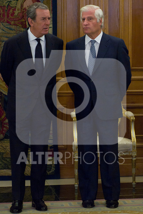 12.09,2012. King Juan Carlos I of Spain attend the delivery of 'XXIII FIES Journalism Award', awarded to Juan Manuel de Prada at the Zarzuela Palace. In the image Carlos Fitz-James Stuart (Alterphotos/Marta Gonzalez)