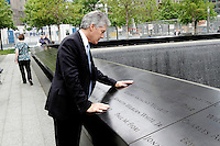 Visit to The September 11 Memorial and World Trade Center in  New York City by Australian Defence Minister Mr Stephen Smith, May 18. 2013.  Photo: Trevor Collens.