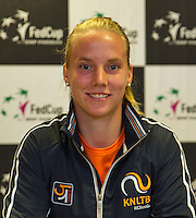 April 15, 2015, Netherlands, Den Bosch, Maaspoort, Fedcup Netherlands-Australia,   Press conference, Richel Hogenkamp(NED)<br /> Photo: Tennisimages/Henk Koster