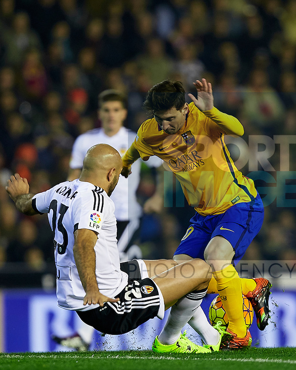 - BBVA La Liga - Valencia CF vs FC Barcelona  - Mestalla Stadium - Valencia - Spain - 5th December 2015 - Pic David Aliaga/Sportimage