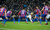2nd December 2017, The Hawthorns, West Bromwich, England; EPL Premier League football, West Bromwich Albion versus Crystal Palace; Hal Robson Kanu of West Bromwich Albion crosses the ball into the box