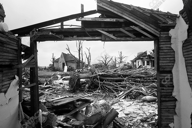 The view outside, from the remnants of a picture window. Joplin, Mo. May 24, 2011..