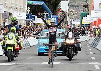 PASTO -COLOMBIA, 11-06-2013. Rafael Infantino del equipo Aguadiente Antioqueño ganó la tercera etapa de la Vuelta a Colombia Supérate 2103 que se cumplió entre las ciudades de Ipiales y Pasto con un recorido de 92.2 km./ Rafael Infantino of Aguardiente Antioqueño team won the 3th stage of  Vuelta a Colombia Superate 2013 made between the cities of Ipiales and Pasto and a distance of 92.2km Photo: VizzorImage/STR