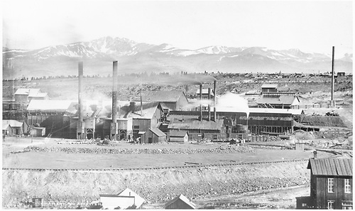 &quot;American Smelter&quot;   View of American Smelter.   Not sure of location.<br /> Leadville ?, CO  Taken by Jackson, William Henry