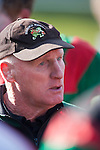 Waiuku coach Peter Summerville  at the halftime break. Counties Manukau Premier Club Rugby final between Patumahoe & Waiuku played at Bayers Growers Stadium Pukekohe on Saturday August 8th 2009. Patumahoe won 11 - 9 after leading 11 - 6 at halftime.