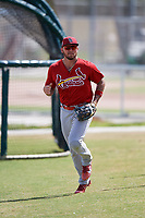 St. Louis Cardinals Granden Goetzman (22) during a Minor League Spring Training game against the Miami Marlins on March 26, 2018 at the Roger Dean Stadium Complex in Jupiter, Florida.  (Mike Janes/Four Seam Images)