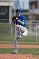 Chicago Cubs relief pitcher Preston Morrison (33) prepares to deliver a pitch to the plate during a Minor League Spring Training game against the Oakland Athletics at Sloan Park on March 13, 2018 in Mesa, Arizona. (Zachary Lucy/Four Seam Images)