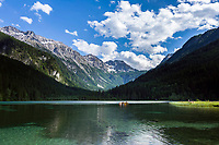 Oesterreich, Salzburger Land, Pongau, Kleinarltal: am Talschluss liegt der Jaegersee unterhalb der Radstaedter Tauern | Austria, Salzburger Land, region Pongau: valley Kleinarltal with lake Jaegersee and Radstaedter Tauern mountains