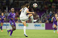 Orlando, FL - Saturday July 15, 2017: Chioma Ubogagu, Brittany Taylor during a regular season National Women's Soccer League (NWSL) match between the Orlando Pride and FC Kansas City at Orlando City Stadium.