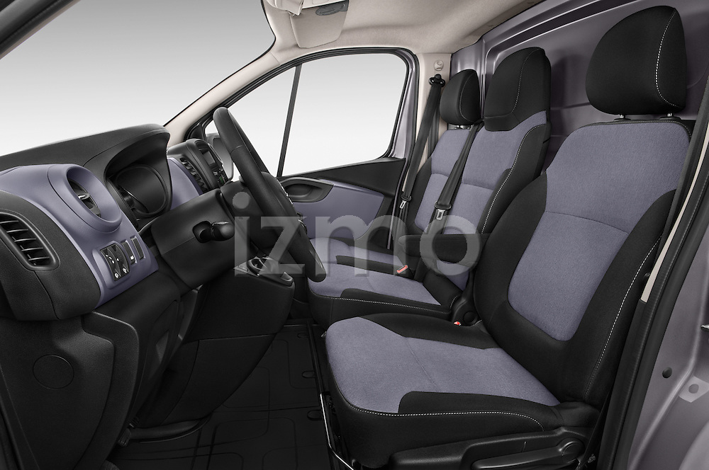 Front Seat View of 2015 Opel Vivaro Edition 4 Door Cargo Van 2WD Stock Photo