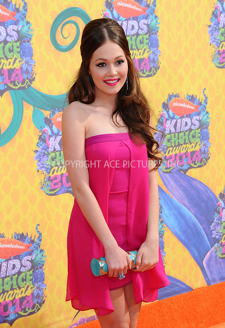 WWW.ACEPIXS.COM<br /> <br /> <br /> March 29,2014, Los Angeles,CA<br /> <br /> <br /> Kelli Berglund arriving at Nickelodeon's 27th Annual Kids' Choice Awards held at USC Galen Center on March 29, 2014 in Los Angeles, California.<br /> <br /> <br /> <br /> By Line: Peter West/ACE Pictures<br /> <br /> ACE Pictures, Inc<br /> Tel: 646 769 0430<br /> Email: info@acepixs.com