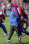 19 November 2010: Schellas Hyndman, Head Coach of the FC Dallas.   FC Dallas held a practice at Toronto, Ontario, Canada as part of their preparations for MLS Cup 2010, Major League Soccer's championship game.