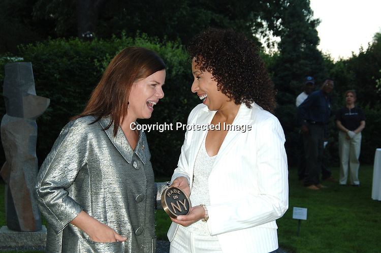 """Award Winners Marcia Gay Harden and Tamara Tunie..at The """"Made In New York"""" Awards for Outstanding Achievement in the Entertainment Industry at Gracie Mansion on June 5, 2006...Robin Platzer, Twin Images"""