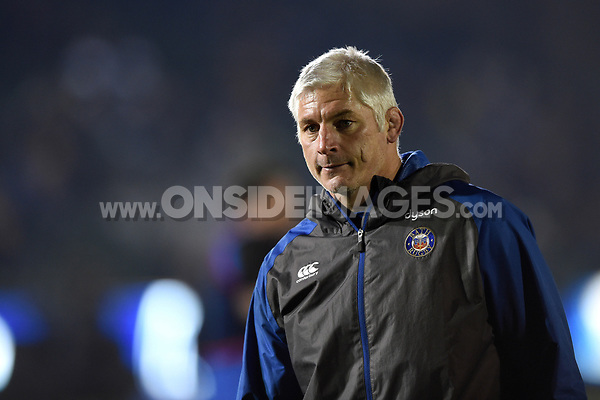 Bath Director of Rugby Todd Blackadder looks on during the pre-match warm-up. European Rugby Champions Cup match, between Bath Rugby and the Scarlets on January 12, 2018 at the Recreation Ground in Bath, England. Photo by: Patrick Khachfe / Onside Images
