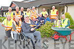 Tim O'Sullivan and the Killarney Tidy Towns volunteers hard at work tidying Cheshire houses Killarney on Monday evening front row l-r: Michael Gleeson, Dermot O'Mahony, Tim O'Connor, Bernard James, Karen O'Donoghue, John Dwyer and Donal O'Sullivan Back row: Johnny McGuire, Derry O'Mahony, Mike Doherty, Christy Lehane, Padraig Tracey, Fr Murphy, Pat Moynihan and Tom O'Connor