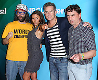 PASADENA, CA, USA - APRIL 08: Judah Friedlander, Kari Wuhrer, Mark McGrath at the NBCUniversal Summer Press Day 2014 held at The Langham Huntington Hotel and Spa on April 8, 2014 in Pasadena, California, United States. (Photo by Xavier Collin/Celebrity Monitor)
