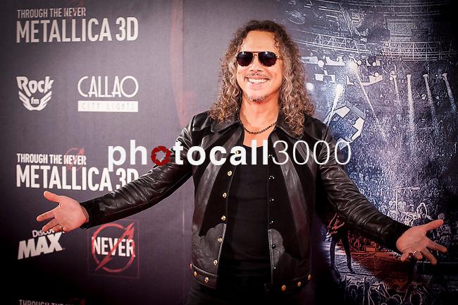Madrid. España. 09/10/2013. Premiere de la película Through the never de Metallica. Con Kirk Hammett y Lars Ulrich.