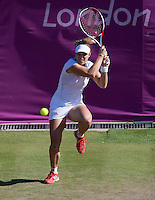 Angelique Kerber..Tennis - OLympic Games -Olympic Tennis -  London 2012 -  Wimbledon - AELTC - The All England Club - London - Thursday 2nd August  2012. .© AMN Images, 30, Cleveland Street, London, W1T 4JD.Tel - +44 20 7907 6387.mfrey@advantagemedianet.com.www.amnimages.photoshelter.com.www.advantagemedianet.com.www.tennishead.net