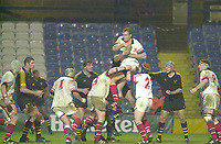 London. Great Britain,  during the Heineken Cup.London Wasps v Ulster Match, played at Loftus Road, West London. 06/01/2002.  [Mandatory Credit;  Peter Spurrier/Intersport Images]..