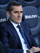 18th March 2018, Camp Nou, Barcelona, Spain; La Liga football, Barcelona versus Athletic Bilbao; Ernesto Valverde coach of FC Barcelona before the match