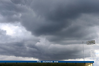 Dark clouds gather over 'The Rainham End' during Gillingham vs Portsmouth, Sky Bet EFL League 1 Football at the MEMS Priestfield Stadium on 8th October 2017