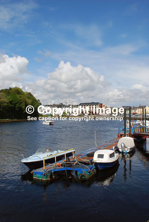 Donegal Town, Rep of Ireland - photographed from the quayside where the River Eske flows into Donegal Bay and ultimately the Atlantic Ocean. 200905192481..Copyright Image from Victor Patterson, 54 Dorchester Park, Belfast, UK, BT9 6RJ..Tel: +44 28 9066 1296.Mob: +44 7802 353836.Voicemail +44 20 8816 7153.Skype: victorpattersonbelfast.Email: victorpatterson@mac.com.Email: victorpatterson@ireland.com (back-up)..IMPORTANT: If you wish to use this image or any other of my images please go to www.victorpatterson.com and click on the Terms & Conditions. Then contact me by email or phone with the reference number(s) of the image(s) concerned.