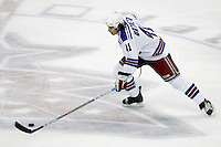 16 January 2006: New York Rangers' Jed Ortmeyer plays against the Columbus Blue Jackets at Nationwide Arena in Columbus, Ohio.<br />