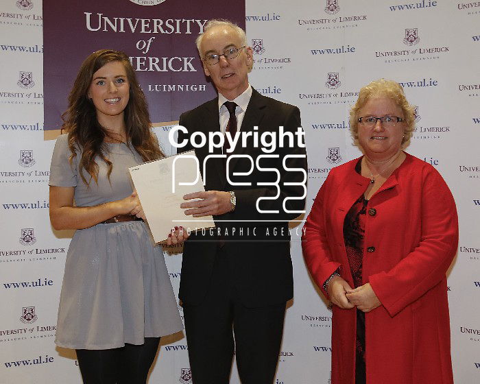 06/12/2013 Laura Whelan, Scoil Croist RI, Portlaoise, Co Laois, pictured a at a scholarship award ceremony at the University of Limerick. Picture: Don Moloney / Press 22