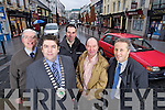 Killarney Businessmen who are happy that Killarney Town Council cut the Rates for the town by Two percent from left Liam Sheehan, Tom Randalls, Ed Kelly, Liam O'Connor and Donnacha Gallivan.