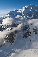 Aerial of Denali summit, Denali National Park, Alaska