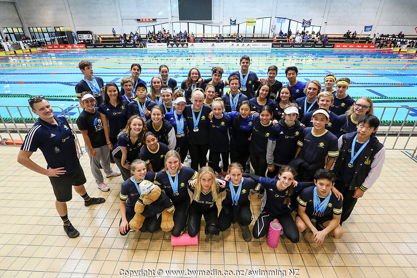 North Shore Swimming Club.  Swimming New Zealand Aon National Age Group Championships, Wellington Regional Aquatic Centre, Wellington, New Zealand, Saturday 20 April 2019. Photo: Simon Watts/www.bwmedia.co.nz