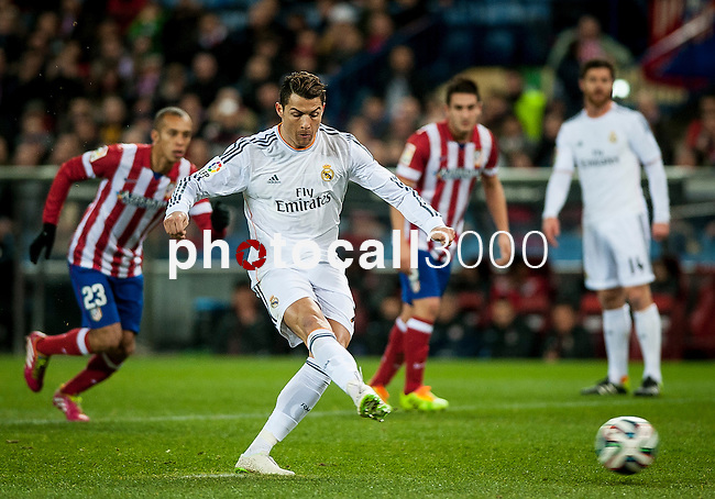 Vicente Calderon. Madrid. Spain. 11.02.2014. Football match between Atletico de Madrid and Real Madrid. Cristiano Ronaldo.